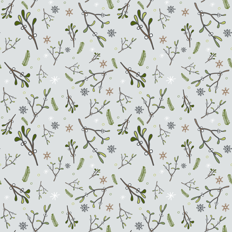 mistletoe chill fabric by jackiejean on Spoonflower - custom fabric