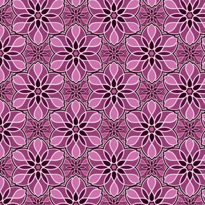 Raspberry mandalas