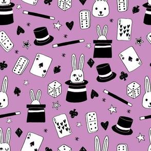 magic show // purple magic magician fabric cute rabbit design cards magic fabric magician design andrea lauren fabric