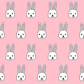 white rabbits // pink rabbits fabric easter cute pink baby nursery design rabbits fabric andrea lauren design