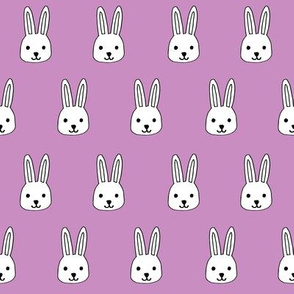 white rabbits // purple pastel rabbit fabric cute bunny rabbit design purple rabbits fabric andrea lauren design