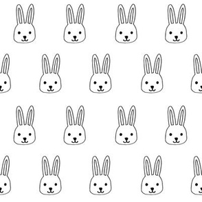 white rabbits // white rabbit bunnies bunny fabric easter design baby cute rabbit head fabric