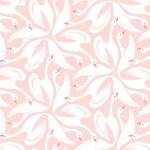 Floral Swans Peach