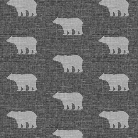 Linen Bears // Sylvan Shoppe Collection fabric by thinlinetextiles on Spoonflower - custom fabric