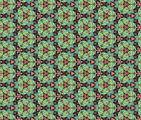 Triangle Eyes fabric by martzi_patterns on Spoonflower - custom fabric