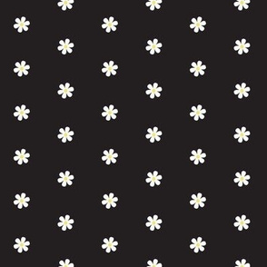Daisy Dots - black