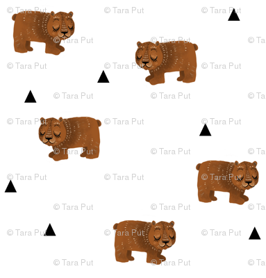 Sleepy Bears + Triangles