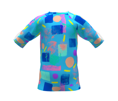 90s Throwback Neon Pastel | Abstract