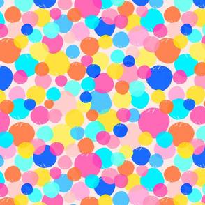 90s Throwback Neon Pastel | Circles