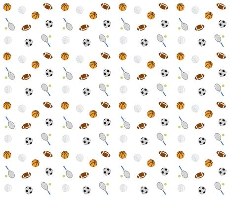 Sports  5 - ball games fabric by drapestudio on Spoonflower - custom fabric