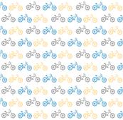 Bicycles 7 - gray blue orange