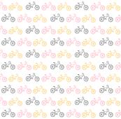 Bicycles 7 - gray pink orange