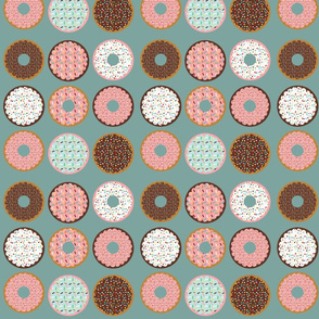 donuts grey blue