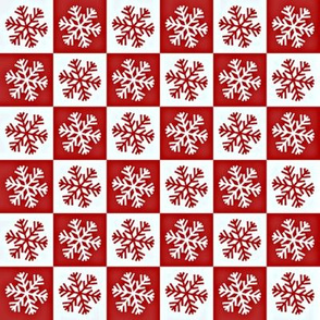 snowflake and red