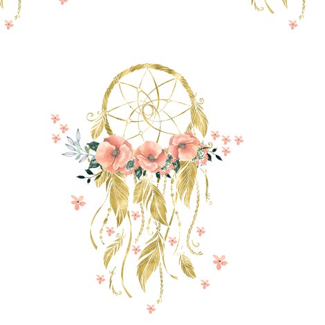 Sweet Dreams Baby Girl Dream Catcher Gold 7 Quot Wallpaper