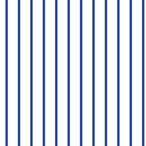 Royal Blue  Pin Stripe on White_Miss Chiff Designs