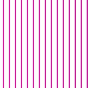 Hot Pink Pin Stripe on White_Miss Chiff Designs