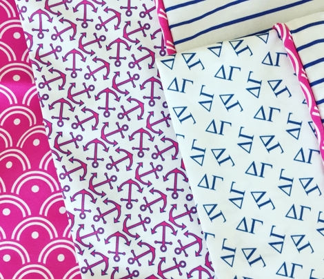 Sorority Anchors in Pink and Blue