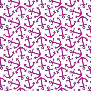 Nautical Anchors in Pink and Blue