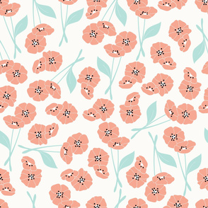 Retro flower pattern 001