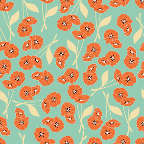 Retro flower pattern 002