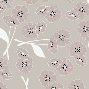 Retro flower pattern 004