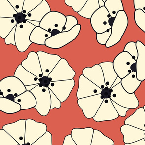 Retro flower pattern 007
