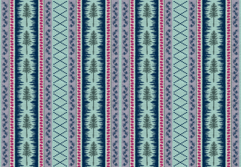 GeoPineTribal2-ed fabric by brittany_vogt on Spoonflower - custom fabric
