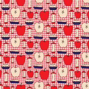 Apple Pie SMALL Red White Blue Teacher 4th of July Gingham Check Fruit_Miss Chiff Designs