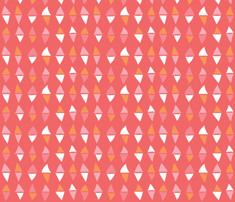 Dancing Diamonds // Pink Background  fabric by annhurleydesign on Spoonflower - custom fabric