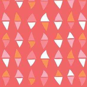 Dancing Diamonds // Pink Background