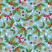 Festive Holly - Blue