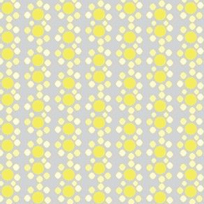 Abstract floral in pale lemon and gray_Miss Chiff Designs
