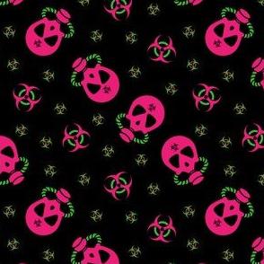 Gas Mask Biohazard Pink Green