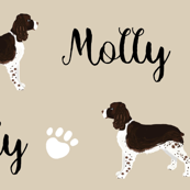 english spring spaniel custom dog name fabric cute design for english springer spaniel owners