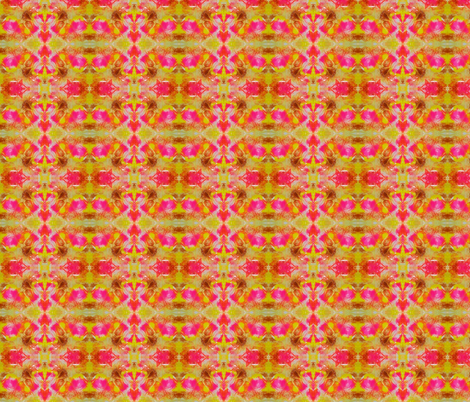Pink and Yellow Fractal fabric by flowerchildtrends on Spoonflower - custom fabric