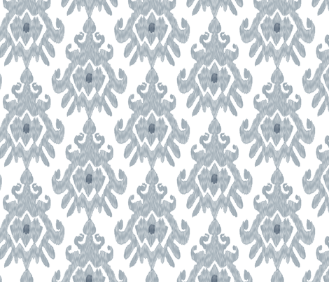 17-11N Large Ikat Slate Blue Gray Grey White Ethnic Tribal Modern Indigo _ Miss Chiff Designs fabric by misschiffdesigns on Spoonflower - custom fabric