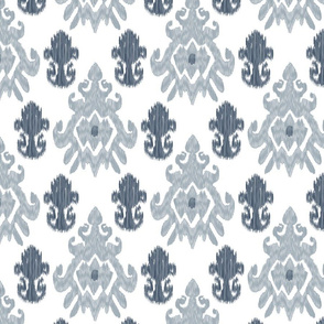 Gray and Blue Ikat Medallions_Miss Chiff Designs