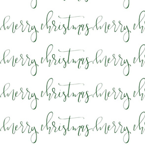 Merry Christmas Calligraphy Wrapping Paper