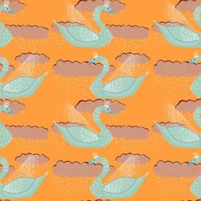Queen_Swan_orange