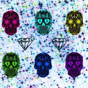 Paint Splatter Sugar Skulls