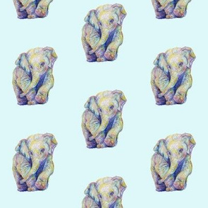 ElephantBlueBackground
