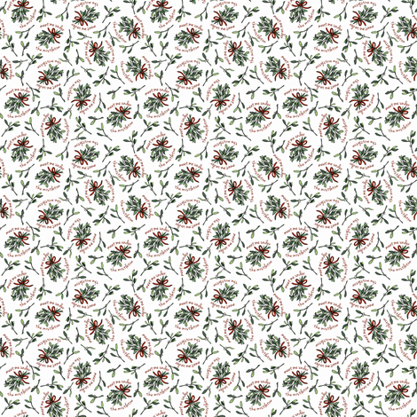 Meet Me Under the Mistletoe fabric by brittany_vogt on Spoonflower - custom fabric