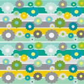 stripe daisy green-