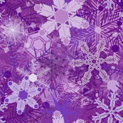 Snowflakes in Purple