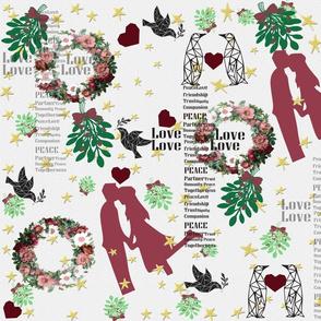 Ditsy Mistletoe love in air