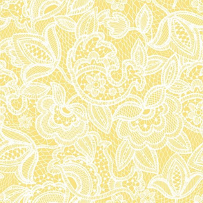 soft yellow lace