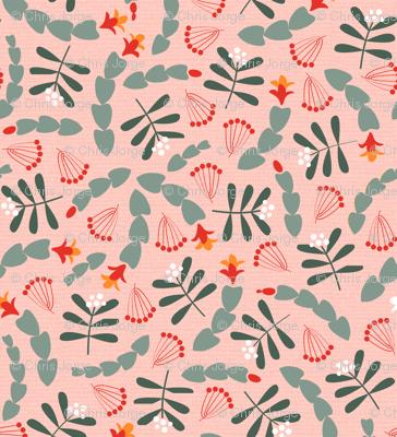 Cactus and mistletoe pink