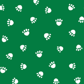 paws // christmas green paws fabric dog paw design pets