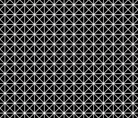 black and white grid fabric by clothcraft on Spoonflower - custom fabric